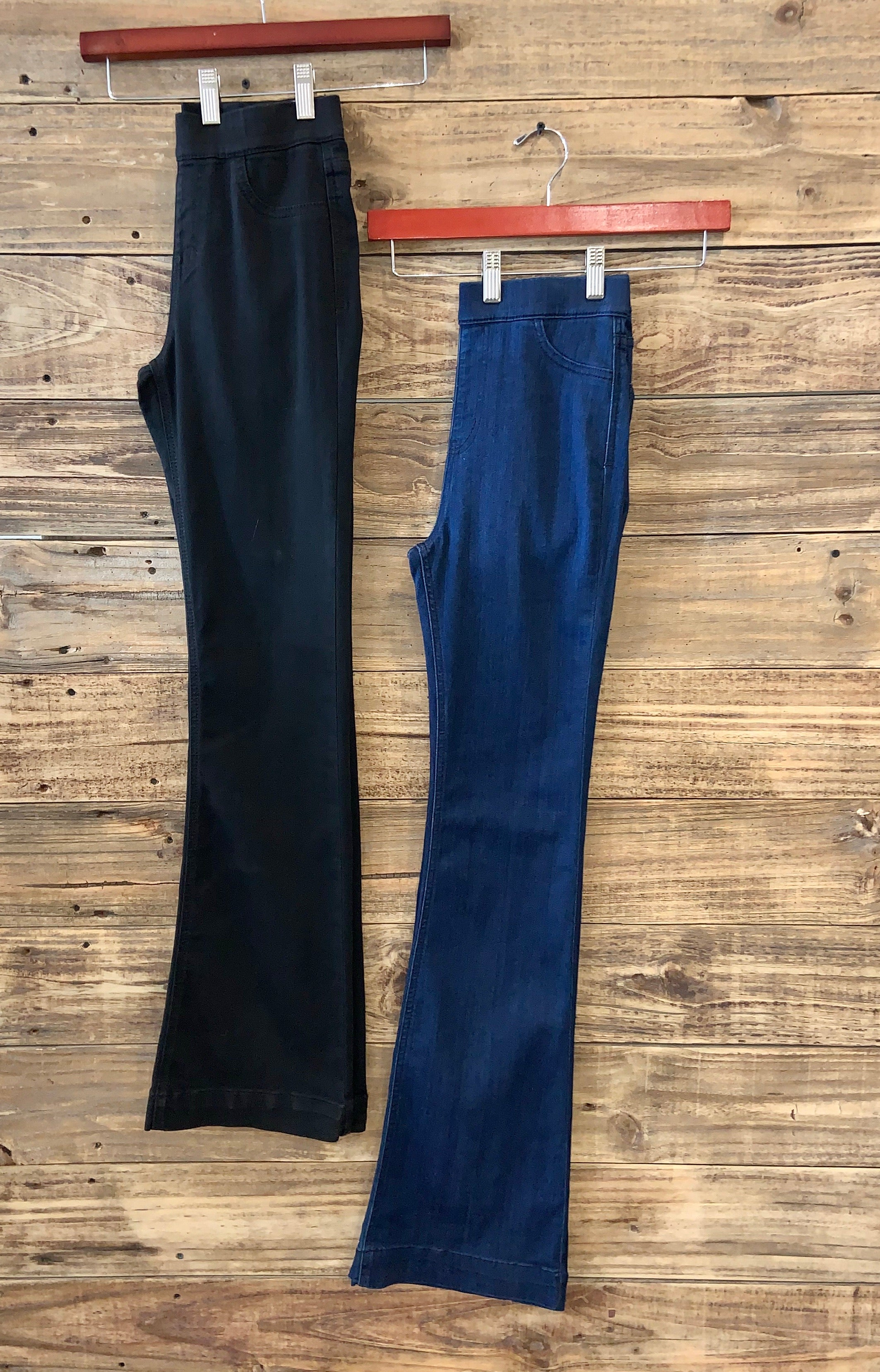 Cello Stretch Waist Flares