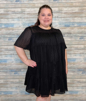 Curvy Dot Tier Dress