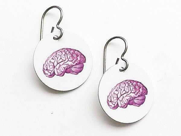 Brain Earrings medical anatomy gift for students teachers doctors nurses physician assistants-Art Altered