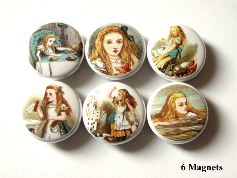 Alice MAGNETS cute party favors drink me swimming-Art Altered