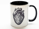 Anatomy Gift coffee mug doctor nurse practitioner physician assistant skull brain anatomical heart goth home decor halloween tea male office-Art Altered