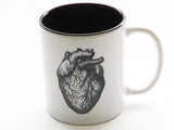 Anatomical Heart Thorax Hand Ceramic Coffee Mugs physician assistant nurse doctor gift-Art Altered
