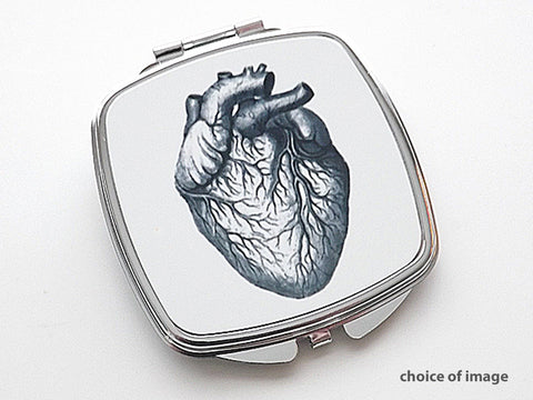 Anatomy Compact Mirror anatomical heart medical student doctor gift Choice of Image - Art Altered  - 1