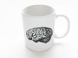 Anatomy Theme 3 Ceramic Coffee MUGS Set skull brain spine medical student nurse doctor gift - Art Altered  - 4