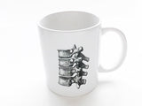 Anatomy Theme 3 Ceramic Coffee MUGS Set skull brain spine medical student nurse doctor gift - Art Altered  - 2