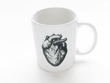 Anatomy 3 Ceramic Coffee MUGS Set anatomical heart medical student nurse doctor gift-Art Altered
