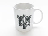 Anatomy Coffee MUGS Set of 6 skull brain spine anatomical heart medical student nurse doctor gift - Art Altered  - 8