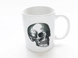 Anatomy Theme 3 Ceramic Coffee MUGS Set skull brain spine medical student nurse doctor gift - Art Altered  - 3