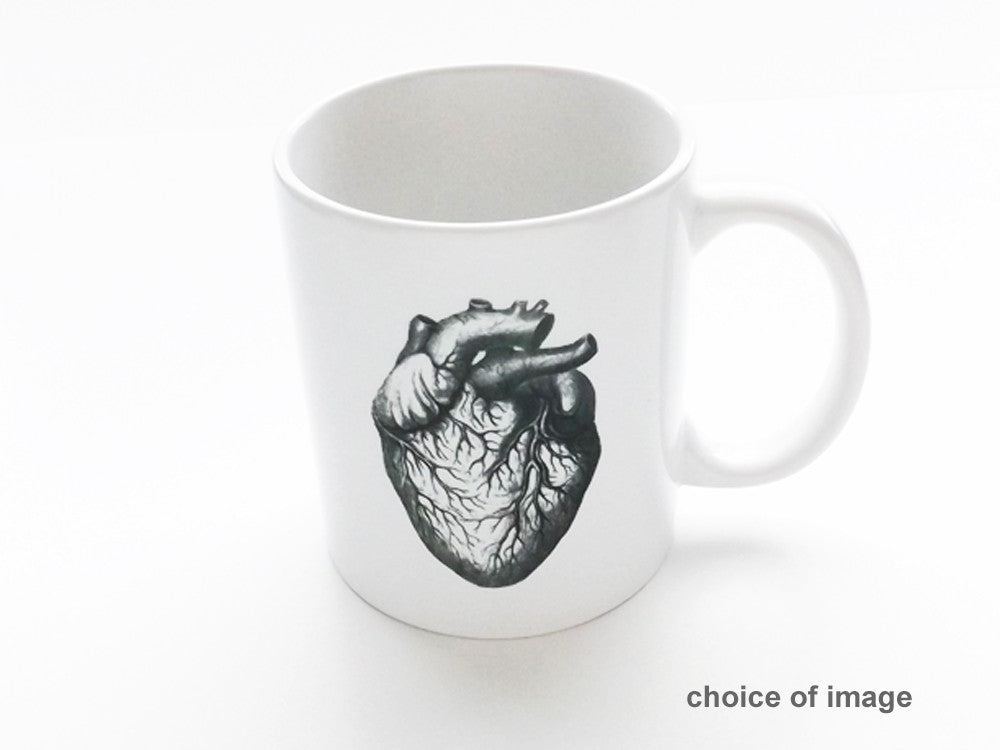 Anatomy Ceramic Coffee MUG Choice of Image anatomical heart medical student teacher doctor gift - Art Altered  - 1