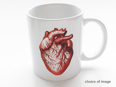 color Anatomy Ceramic Coffee MUG Choice of Image medical school graduation gift - Art Altered  - 1