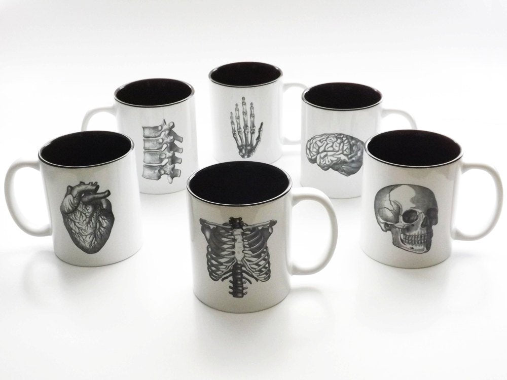 Coffee Lover Mug Gift Set anatomy medical school student graduation goth decor md male nurse practitioner np rn physician assistant pa men-Art Altered