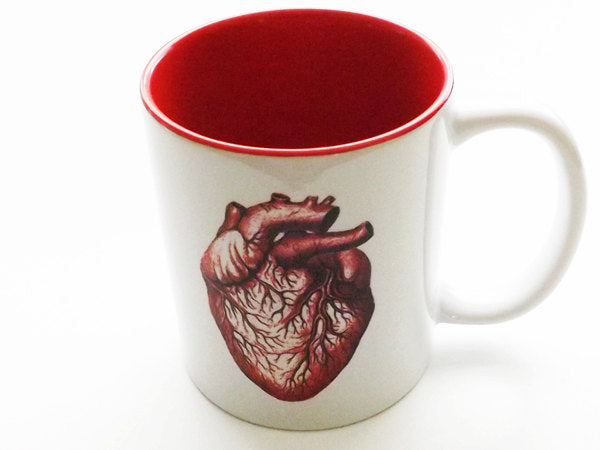 Coffee Mug Anatomical Heart medical coworker gift for him stocking stuffer men valentine home decor goth macabre human body cup anatomy geek-Art Altered