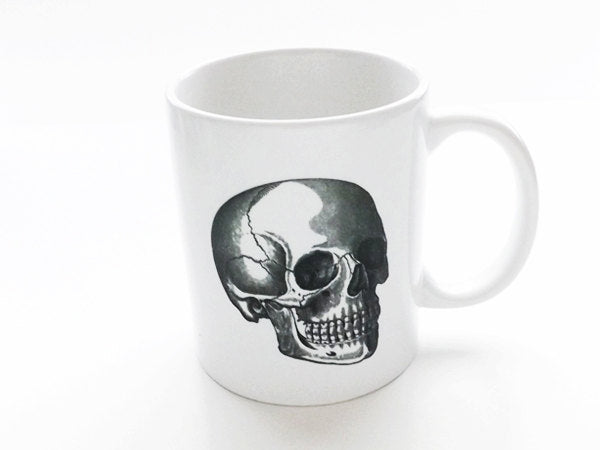 Skull Gift for him coffee mug stocking stuffer men coworker goth decor medical student neurology thank you office staff doctor male nurse-Art Altered