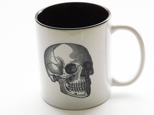 Coffee Mug Skull Gift cup medical anatomy for him her coworker goth decor doctor nurse practitioner physician assistant home tea man gothic-Art Altered