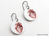 Human Anatomy Earrings medical school graduation gift anatomical heart brain skull