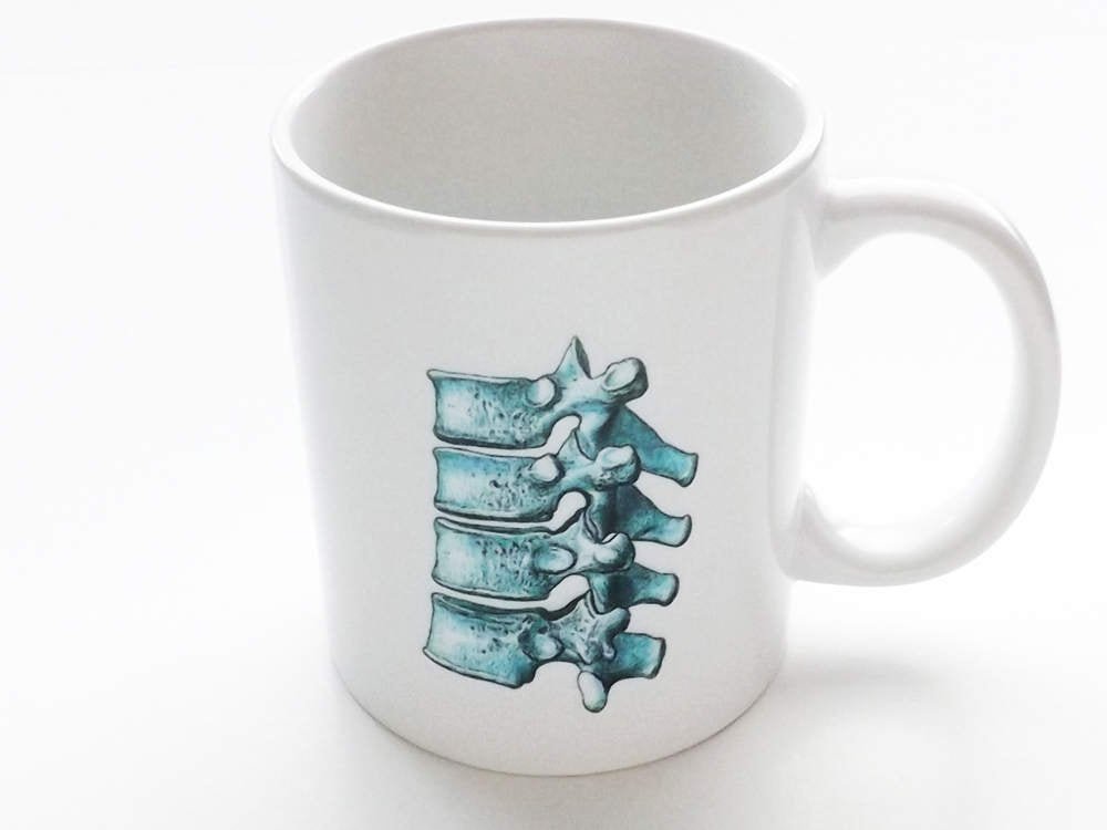 Spine Coffee Mug chiropractor doctor office unique novelty gift male nurse science medical graduation ortho dc md rn pa human body anatomy-Art Altered