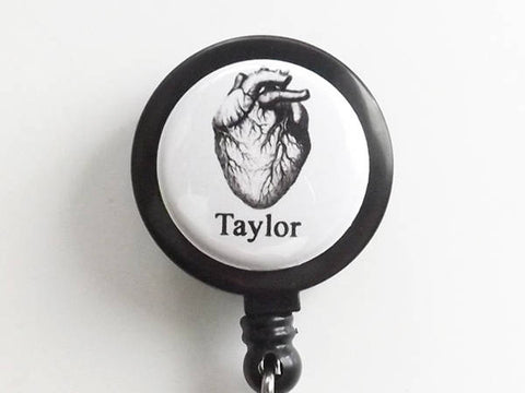 Human Anatomy Custom Name retractable badge reel medical masculine gift school male nurse physician assistant id holder personalized gothic-Art Altered