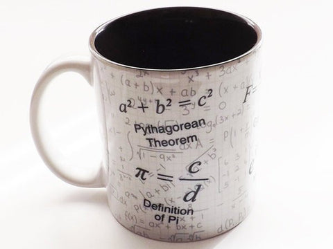 Coffee Mug Math Gift coworker teacher cup formula mathematical nerd science Pi day equations geek party favor hostess stocking stuffer men-Art Altered