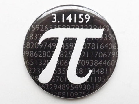 Pi Day Button Pin mirror coaster magnet logic math science novelty party favor stocking stuffers gifts geekery graduation teacher dork nerd-Art Altered