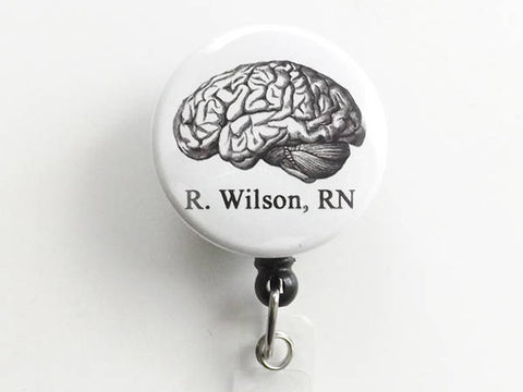 Personalized Anatomy Retractable ID Badge holder reel medical office gift doctor nurse physician assistant teacher custom goth md rn pa np-Art Altered
