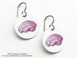 Brain Earrings medical anatomy gift for students teachers doctors nurses physician assistants