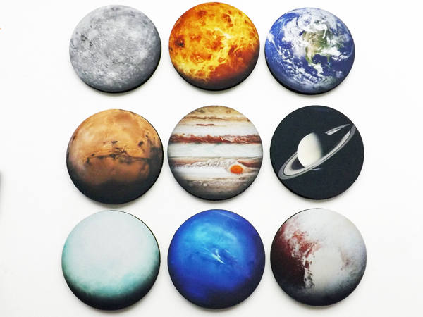 Planets Coasters Set Nine astronomy science space gift home dorm decor teacher student earth solar system geekery stocking stuffer nerd sky-Art Altered