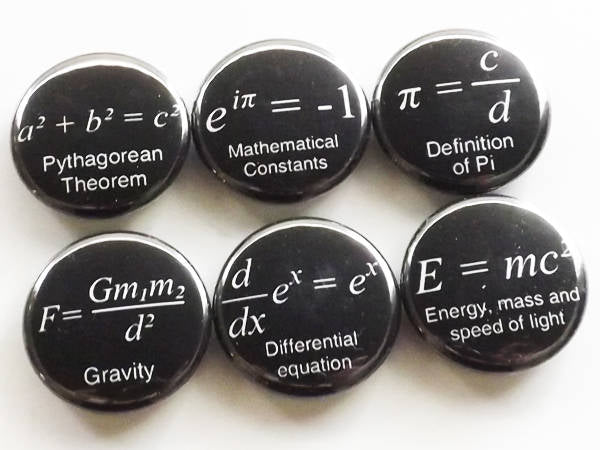 Math Magnets coworker gift back to school arithmetic science formulas fridge teacher student locker decoration home decor kitchen geek men-Art Altered