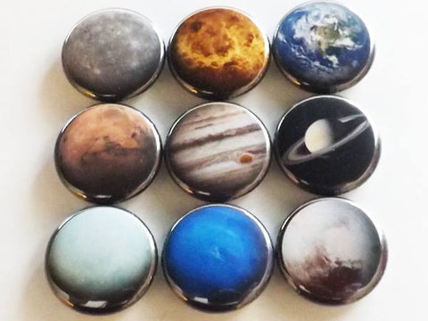 Planets fridge magnet gift set space solar system astronomy science home decor party favor stocking stuffer locker decoration geek nerd dork-Art Altered