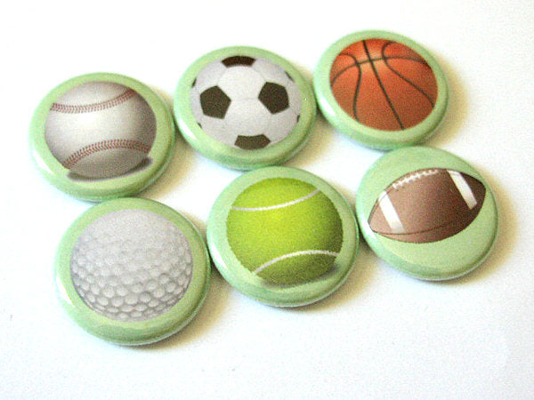 Magnet Set Teacher Coach gifts for him men sports ball soccer basketball golf football tennis baseball party stocking stuffer back to school-Art Altered