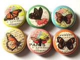 Butterfly Button Pins badges magnets nature butterflies wedding shower spring party favors stocking stuffers birthday gifts flair garden-Art Altered