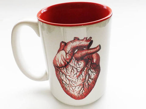 Coffee Mug 11 or 15 oz Anatomy Heart physician assistant male registered nurse halloween doctor gift goth kitchen decor boss coworker staff-Art Altered