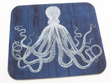 Octopus Mousepad boss coworker gift desk office cubicle accessory nautical home decor desktop mouse pad tentacles goth him sea beach ocean-Art Altered