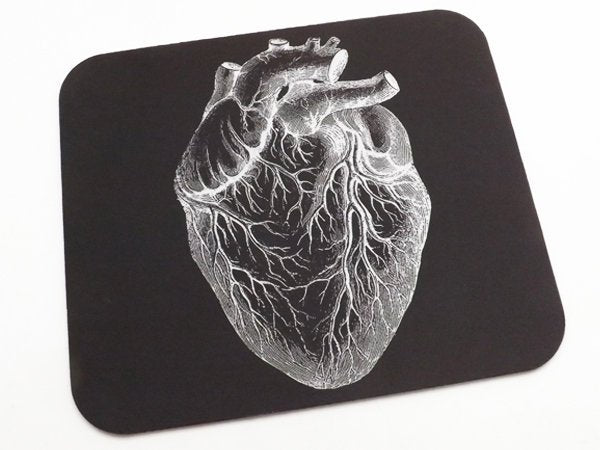 Anatomical Heart Mousepad boss coworker gift desk office cubicle accessory medical home decor desktop mouse pad doctor male nurse goth him-Art Altered