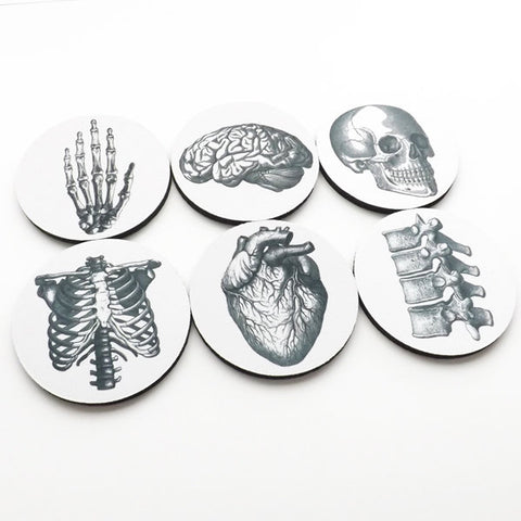 gifts Coasters hostess graduation doctor nursing Anatomy medical student cardiology skull anatomical heart party favors geekery teacher goth-Art Altered