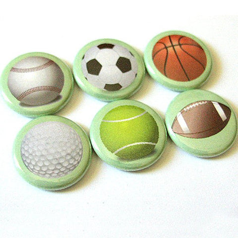 Coach Gifts button pin badges gift for men him dad Father's Day soccer basketball golf football tennis party favors stocking stuffer magnets-Art Altered