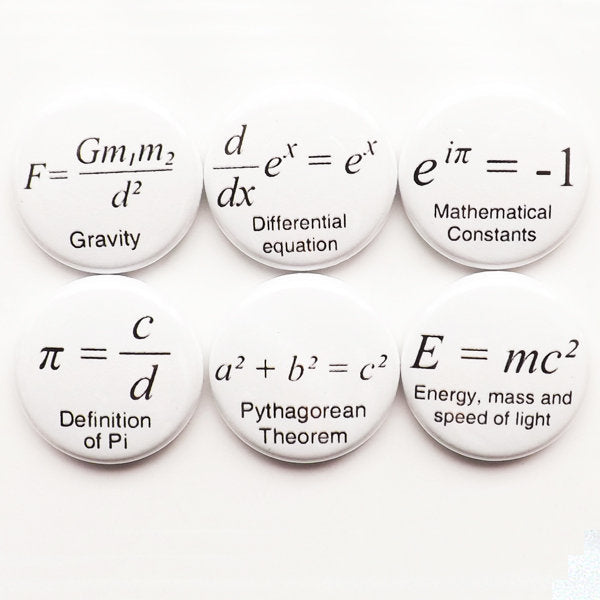 Math Teacher Stocking Stuffer Formulas arithmetic Magnets Button Pins Coasters Pi Day back to school science equation gift geek party favor-Art Altered