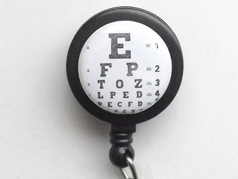 Eye Doctor retractable badge reel office staff gift id badge holder medical school graduation party optical anatomy stocking stuffer goth-Art Altered