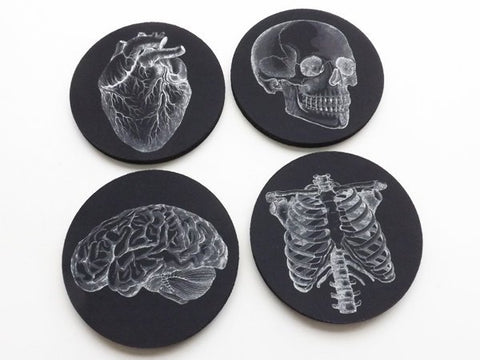 Coworker Coasters Gift physician assistant nurse practitioner white black graduation party favor medical office male thank you goth home-Art Altered