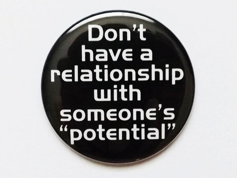 "Pocket MIRROR Don't have a relationship with someone's potential 2.25"" size geekery divorce party favors stocking stuffers bad boyfriend-Art Altered"