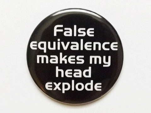Magnet False Equivalence Make My Head Explode snarky gift bottle opener geekery logic party favors stocking stuffers dork nerd for him men-Art Altered