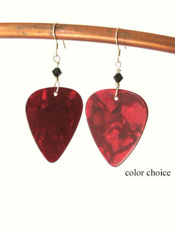 Guitar Pick Earrings Rocker Gift mod retro music musician funky-Art Altered
