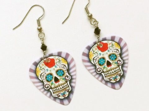 Wild Sugar Skull Earrings day of the dead dia de los muertos party favors stocking stuffers halloween calavera wedding shower costume gifts-Art Altered