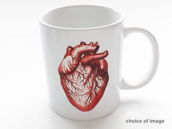 Anatomy Coffee Mug coworker gift human body physician assistant science medical school cardiology graduation him men her geek nerd dork goth-Art Altered