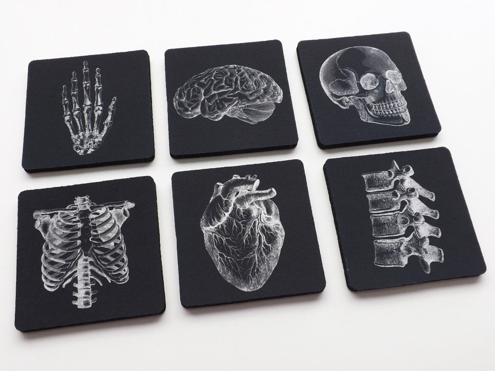 Medical Gift black and white 3.5 inch coaster set white coat ceremony graduation doctor nurse-Art Altered