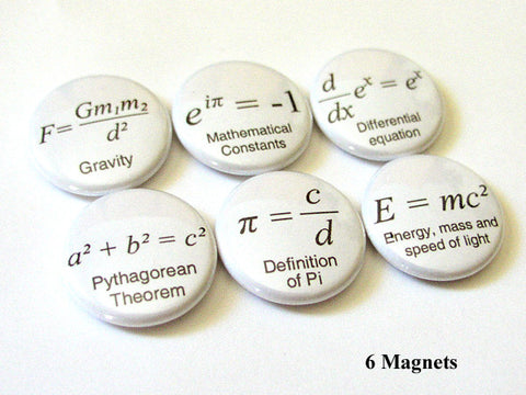 Math Formula MAGNETS science arithmetic equations pi geek nerd-Art Altered