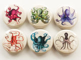 Octopus Fridge Magnets kraken tentacles sealife home decor housewarming hostess gift-Art Altered