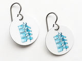 Spine Earrings chiropractor jewelry gift doctor physical therapist chiropractor physician assistant med school student anatomy vertebrae dc-Art Altered