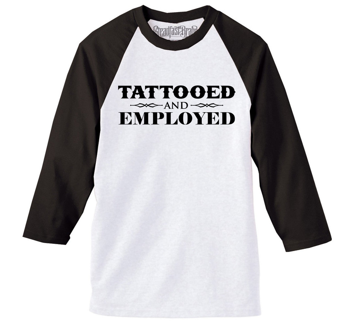 Tattooed &Amp; Employed Men's Baseball Tee...