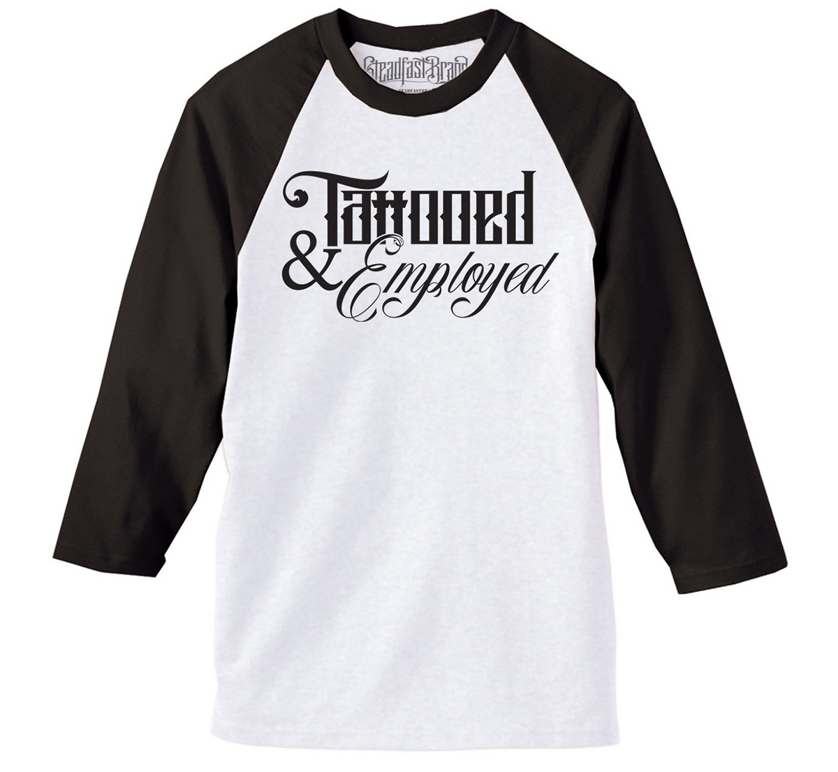 Tattooed &Amp; Employed Script Men's Baseball...