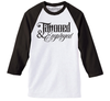 Tattooed & Employed Script Men's Baseball Tee (white/black)
